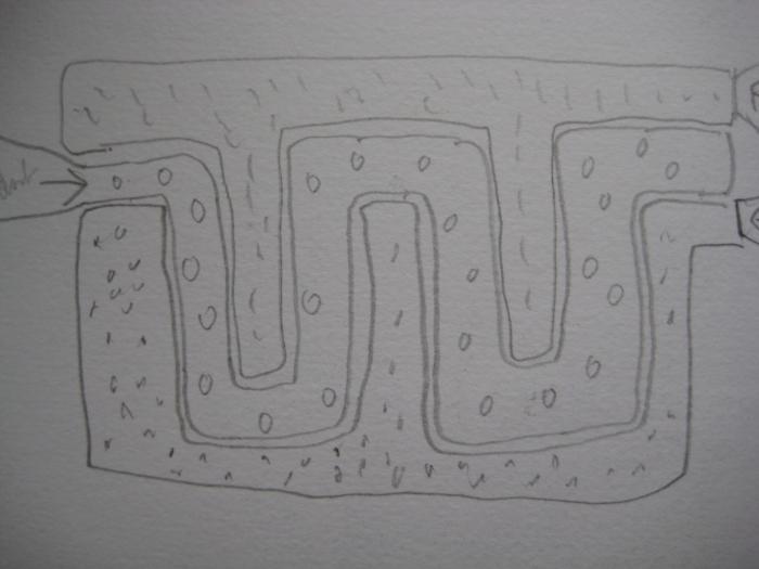 riverbed sketch